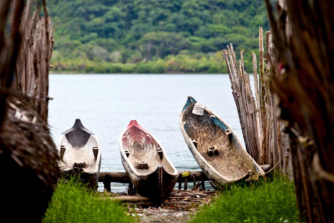 Cayucos en Kuna Yala