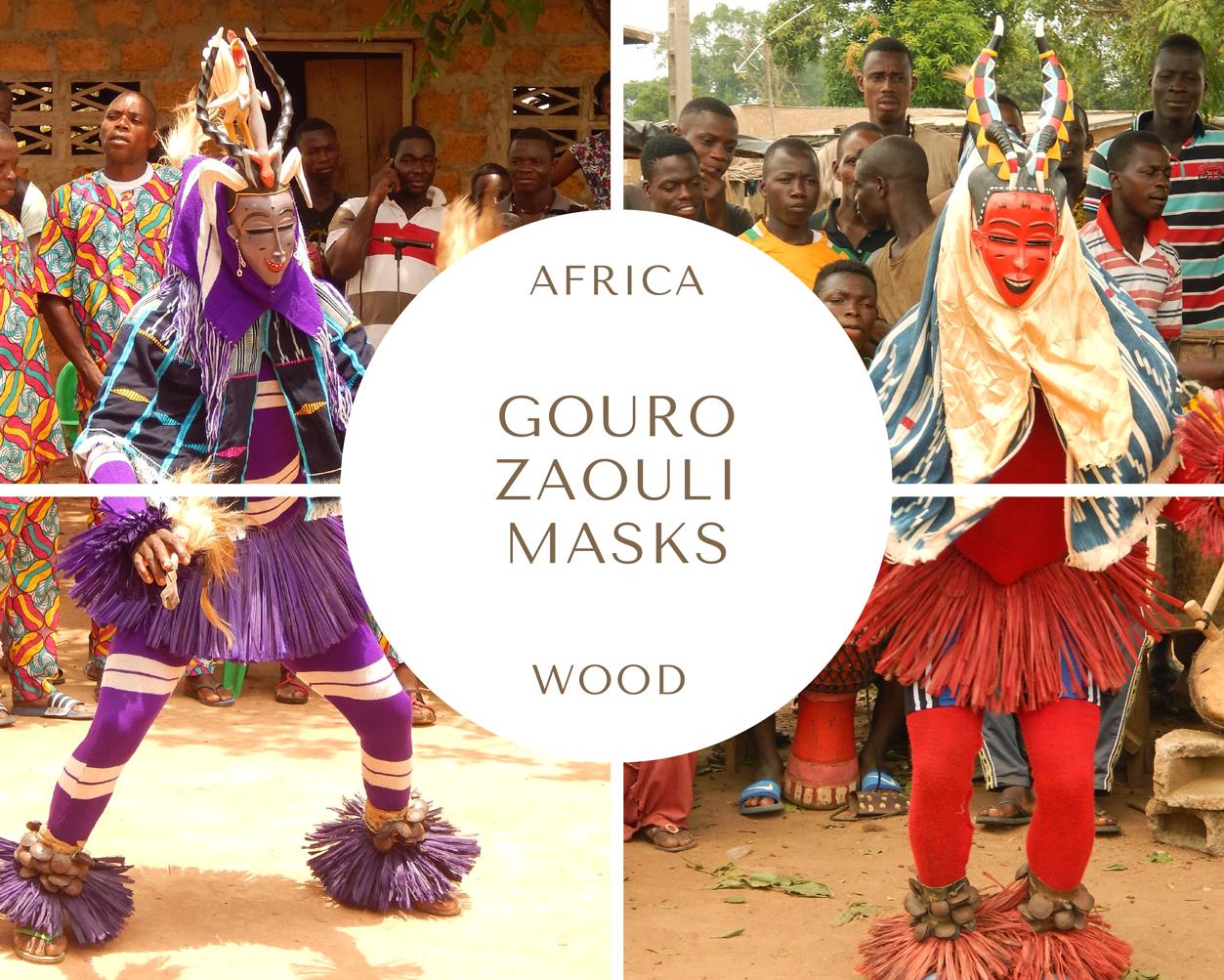 Gouro Zaouli Dance Masks
