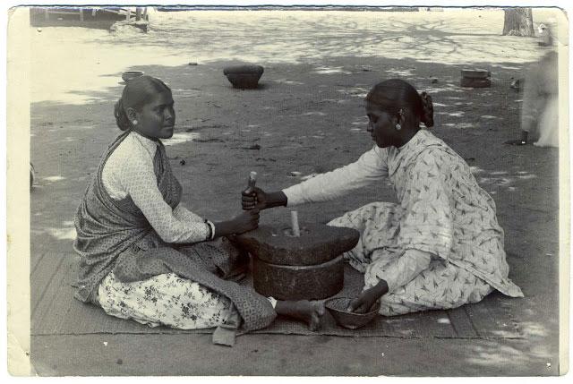 Indian Women Grinding