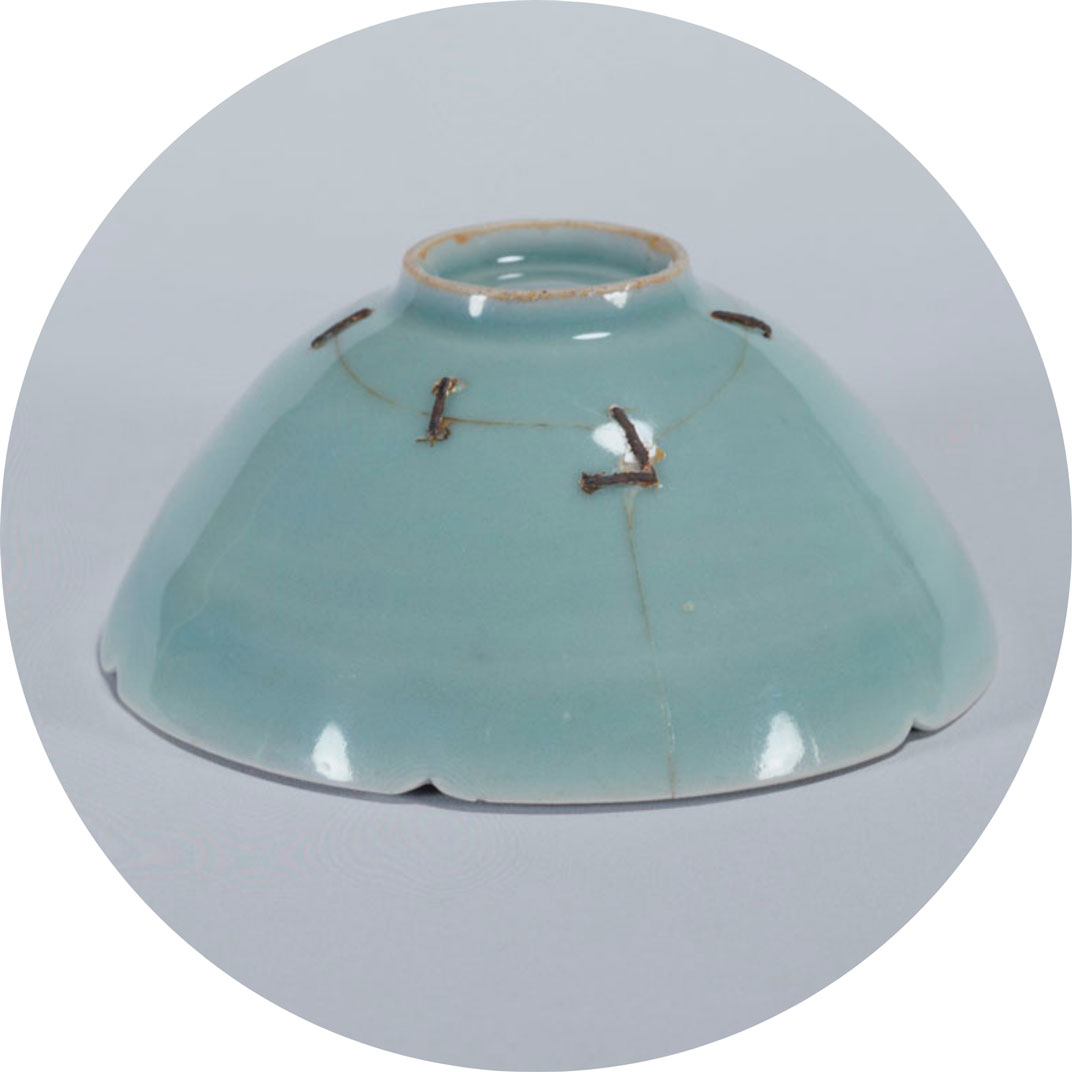 Mended Chinese Tea Bowl