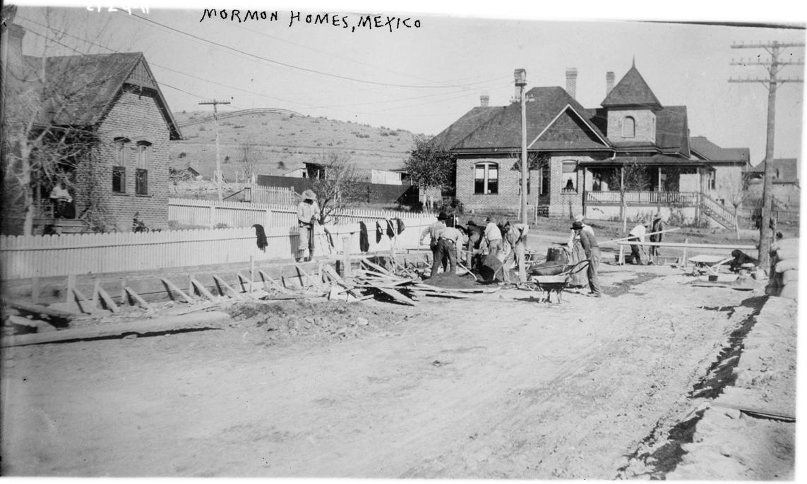 Mormons building a house