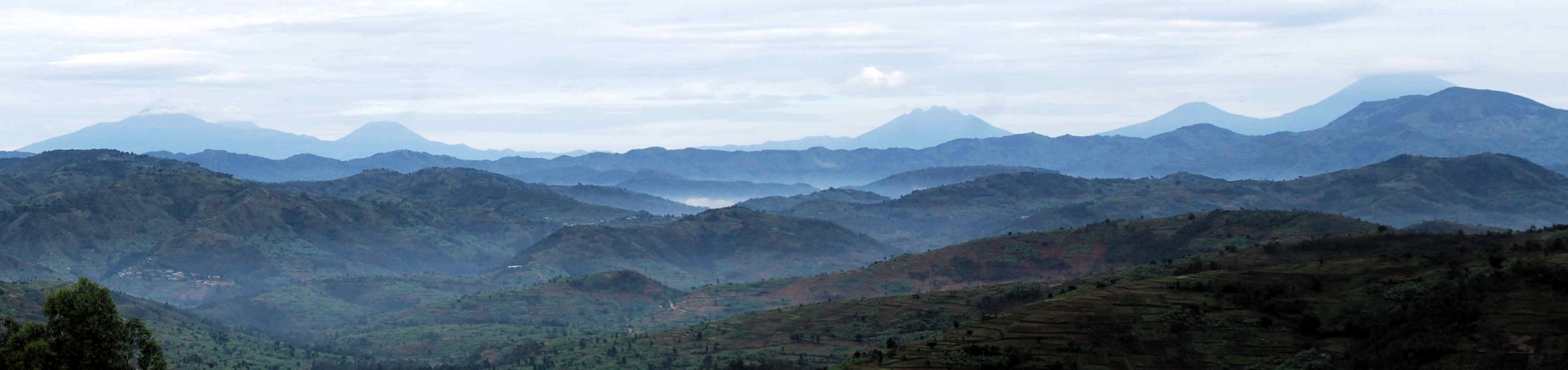 Rwanda vista dels volcans Virunga