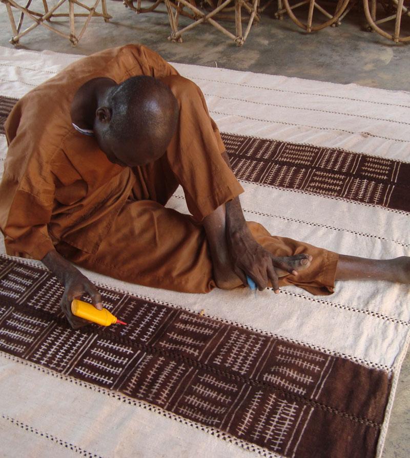 The bleaching final phase a Ségou, Mali