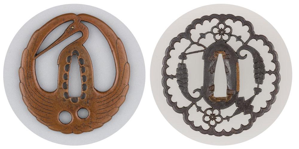 Two antique tsuba